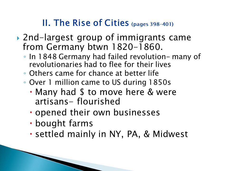 II. The Rise of Cities (pages 398–401)