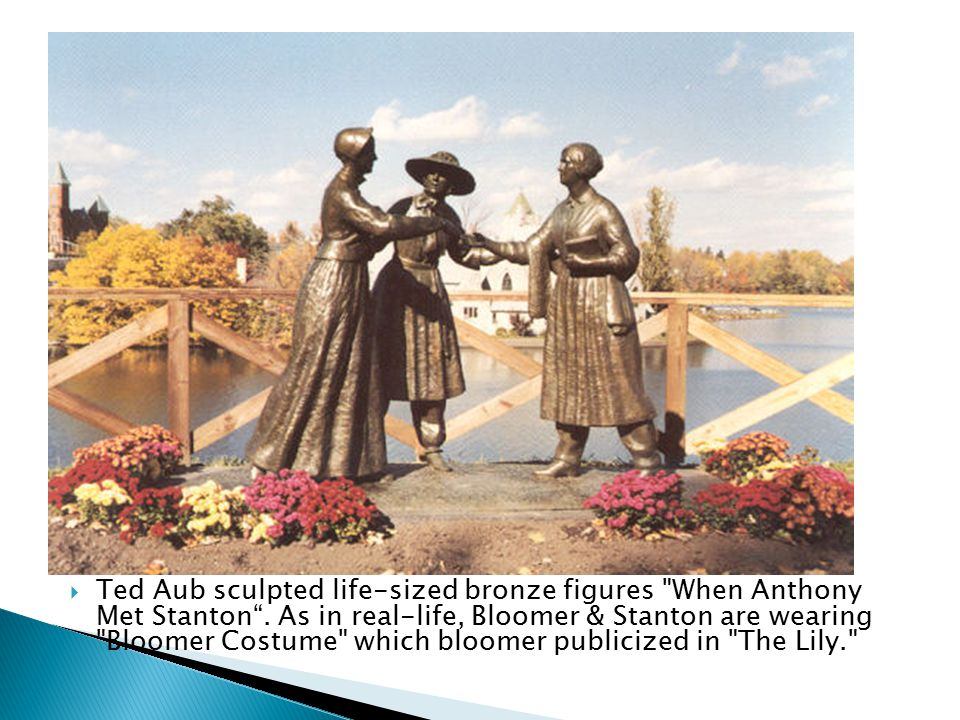 Ted Aub sculpted life-sized bronze figures When Anthony Met Stanton