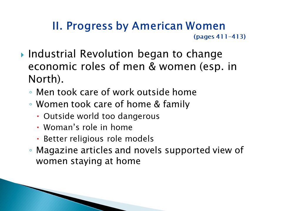 II. Progress by American Women (pages 411–413)
