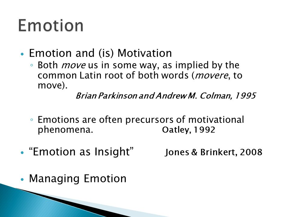 Emotion Emotion and (is) Motivation