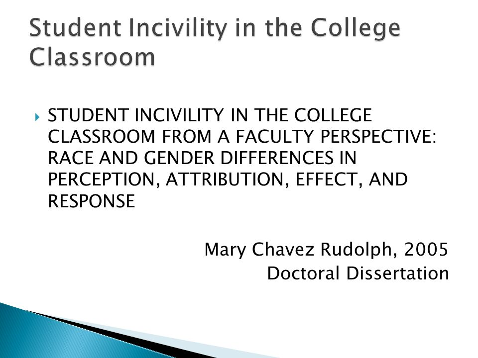 Student Incivility in the College Classroom