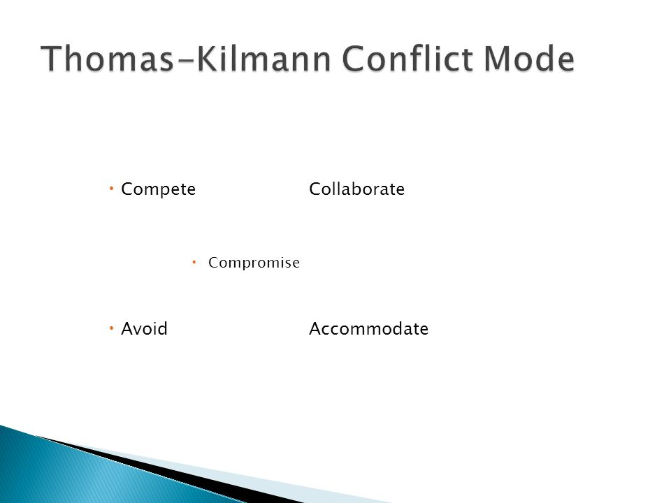 Thomas-Kilmann Conflict Mode