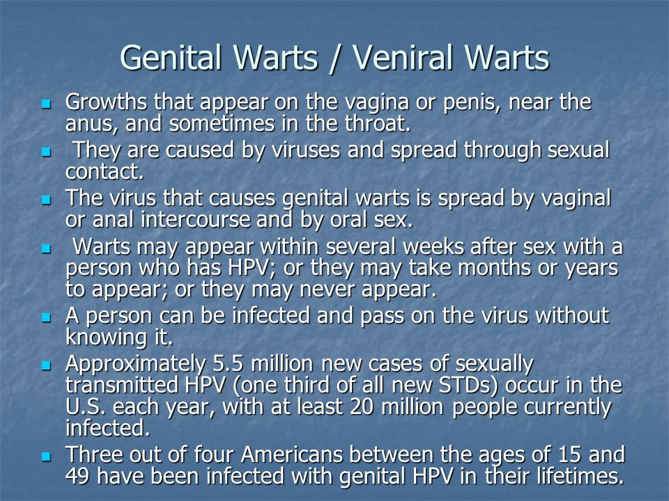 Genital Warts / Veniral Warts