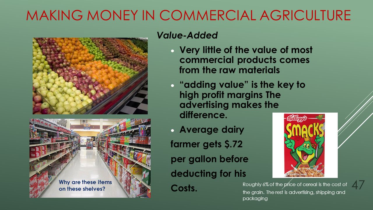 Making Money in Commercial Agriculture