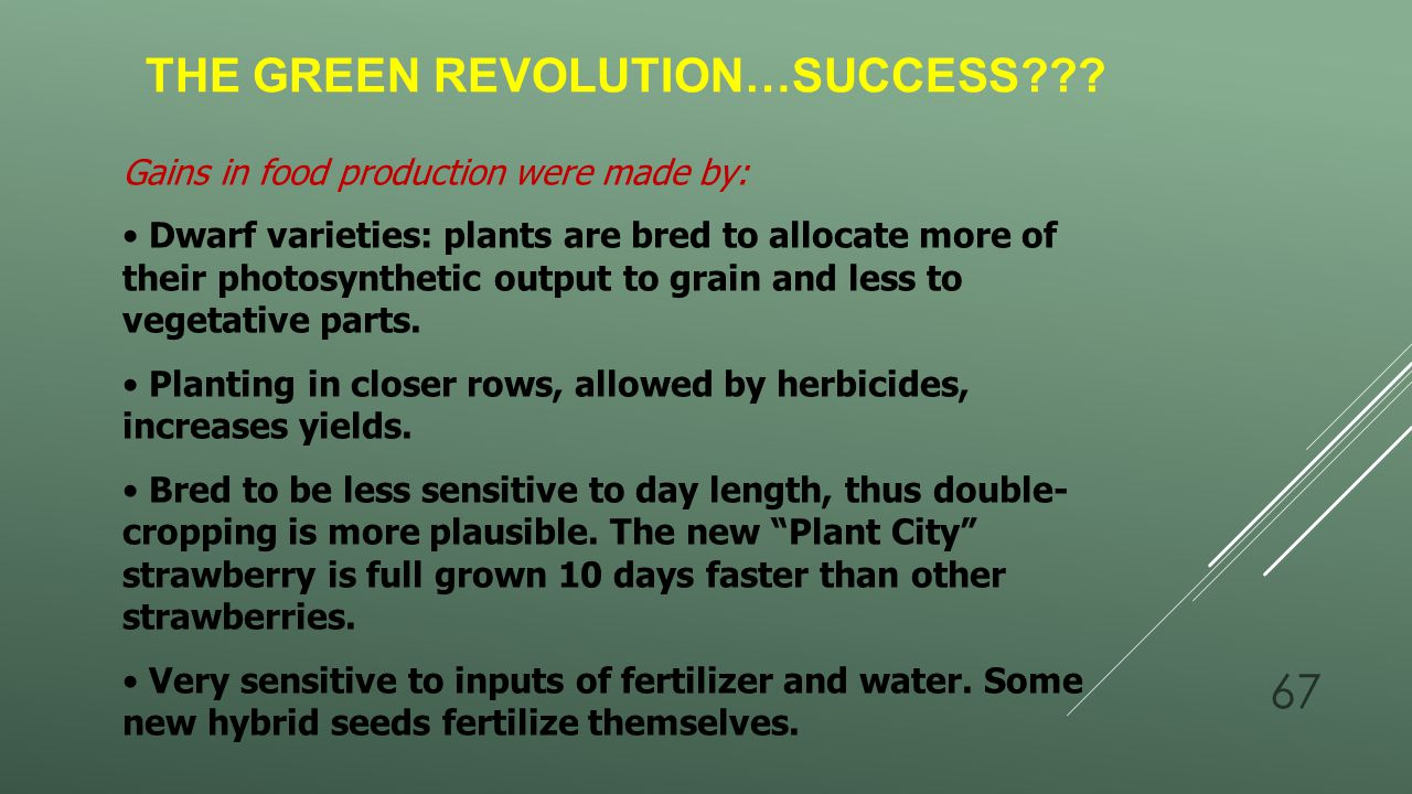 The Green Revolution…success