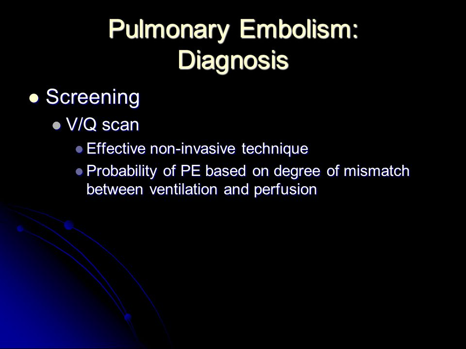 Pulmonary Embolism: Diagnosis