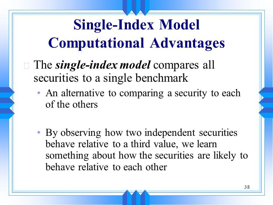 Single-Index Model Computational Advantages