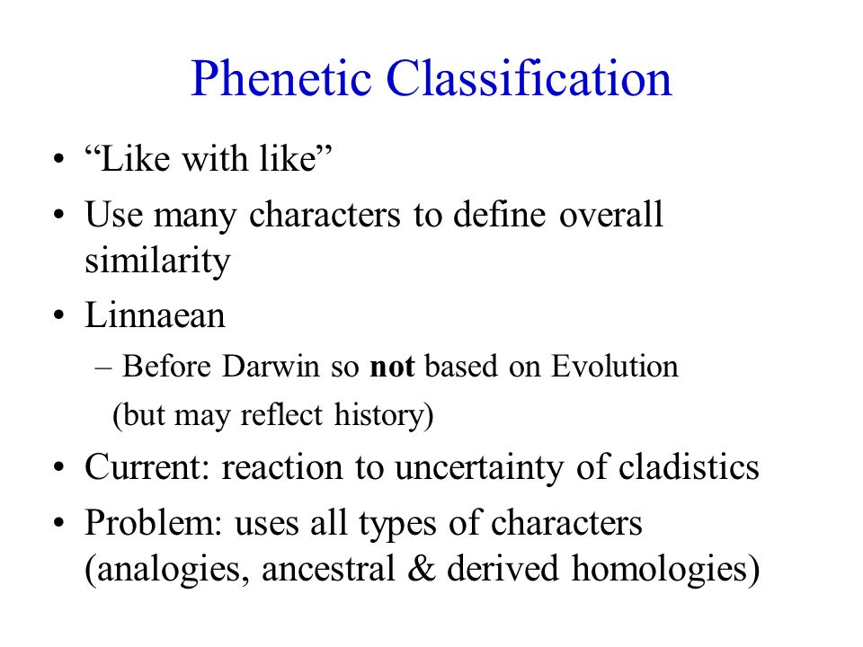 Phenetic Classification