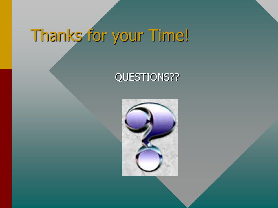 Thanks for your Time! QUESTIONS