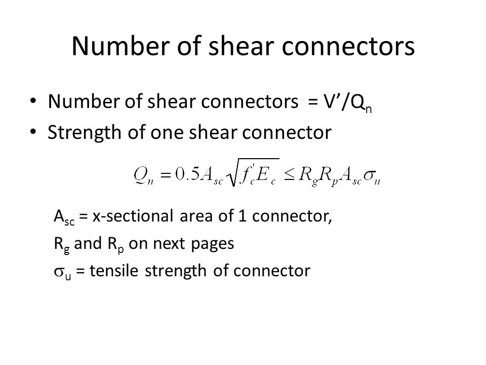 Number of shear connectors