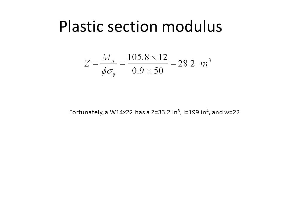 Plastic section modulus