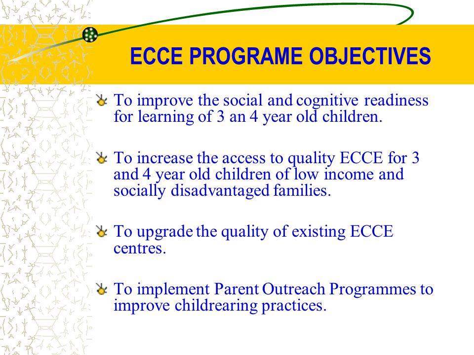 ECCE PROGRAME OBJECTIVES