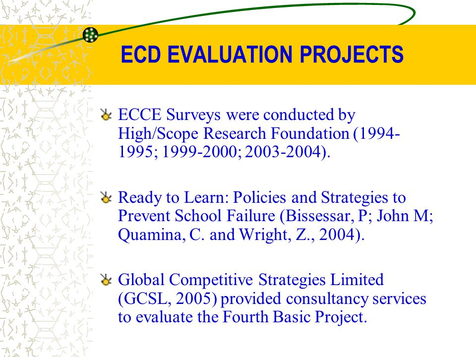 ECD EVALUATION PROJECTS