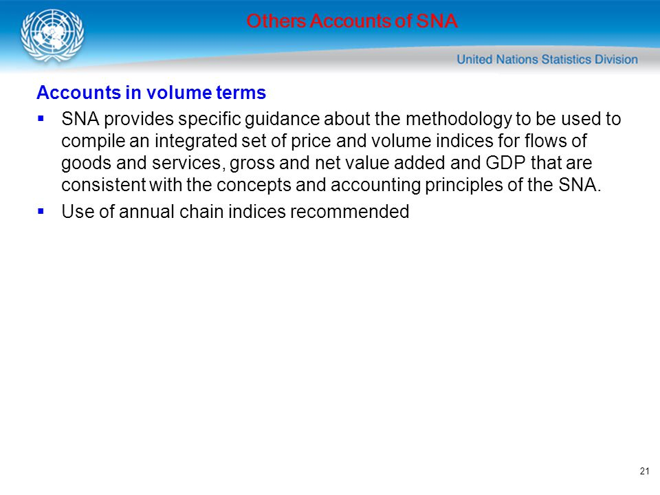 Others Accounts of SNA Accounts in volume terms