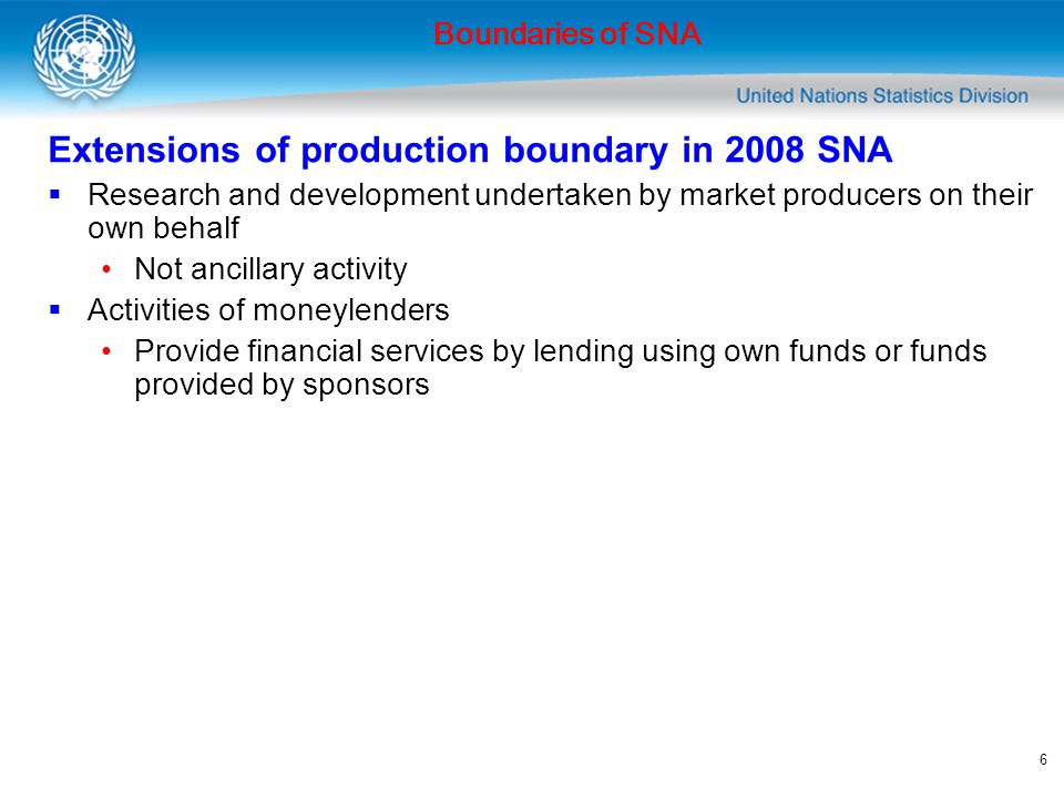 Extensions of production boundary in 2008 SNA