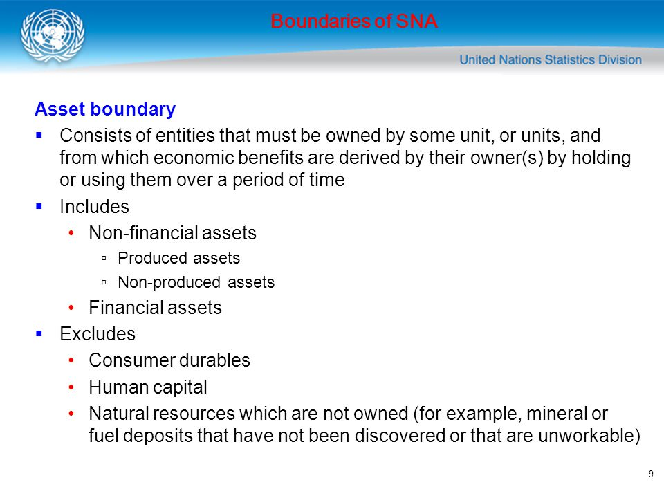 Boundaries of SNA Asset boundary