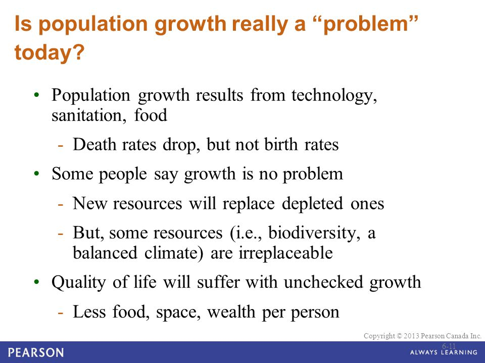 Is population growth really a problem today