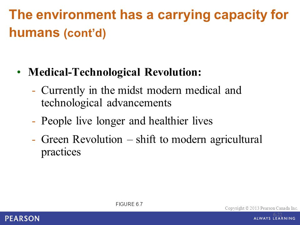 The environment has a carrying capacity for humans (cont'd)