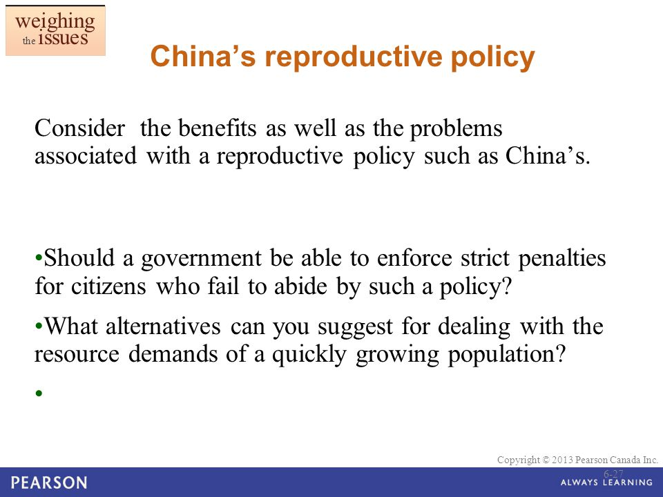 China's reproductive policy