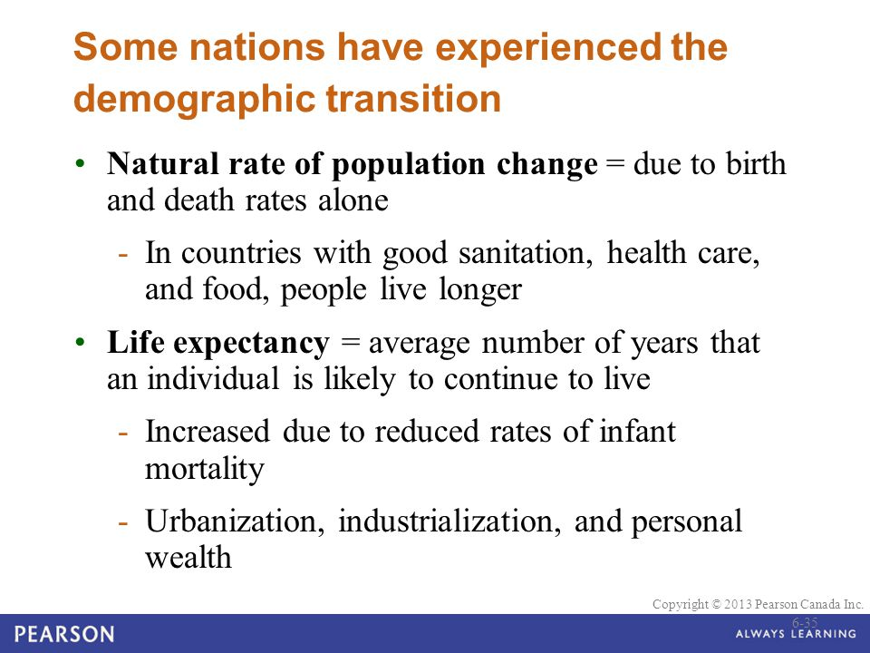 Some nations have experienced the demographic transition