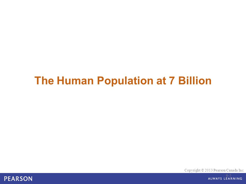 The Human Population at 7 Billion