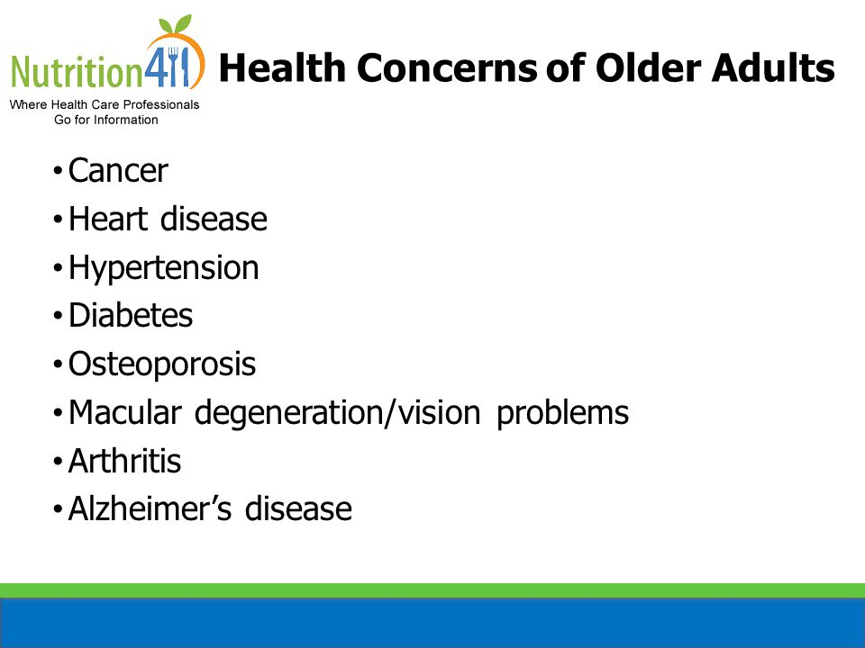 Health Concerns of Older Adults