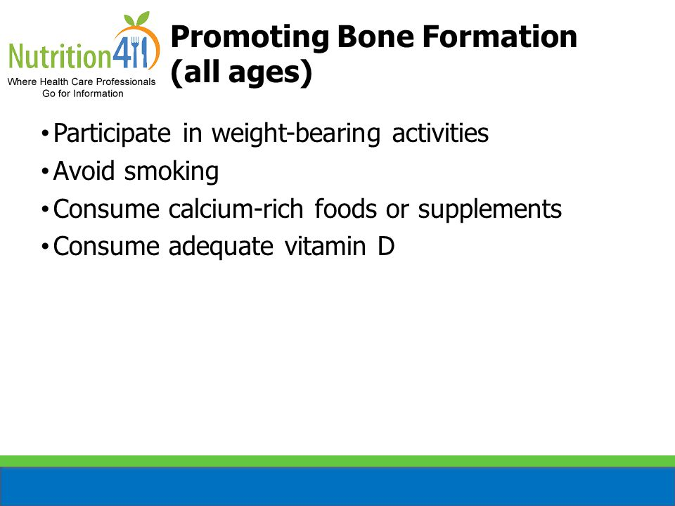 Promoting Bone Formation (all ages)
