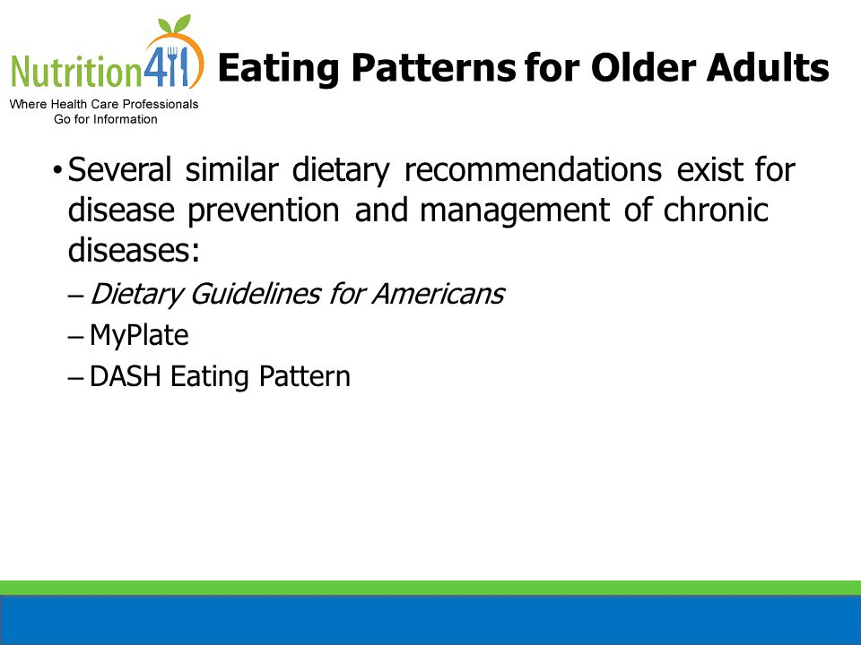 Eating Patterns for Older Adults