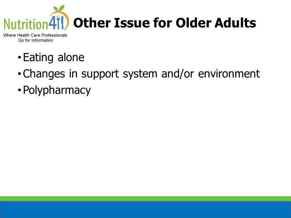 Other Issue for Older Adults