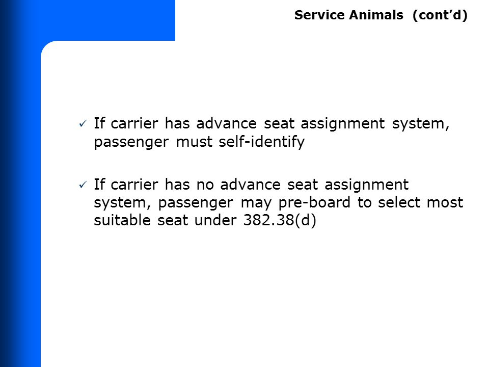 If carrier refuses transportation of service animal: