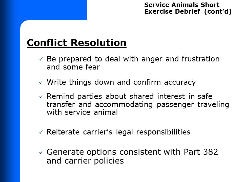 Denying transportation to accommodate passenger with service animal;