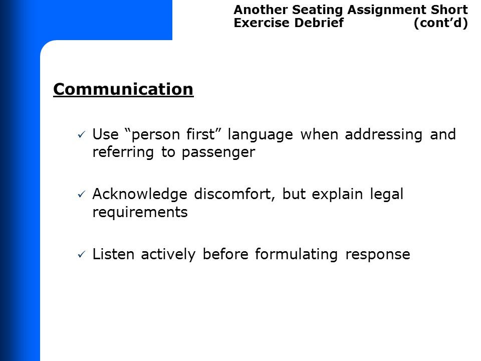 No Advance Seat Assignments
