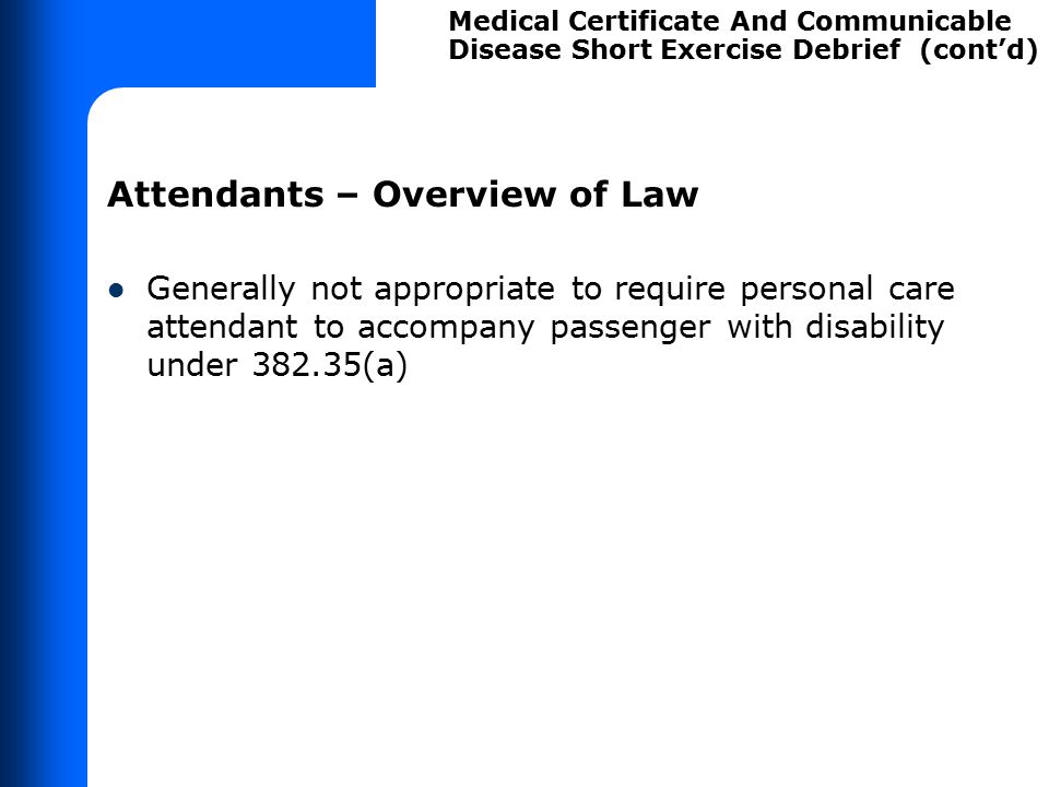 Medical Certificate – Overview of Law