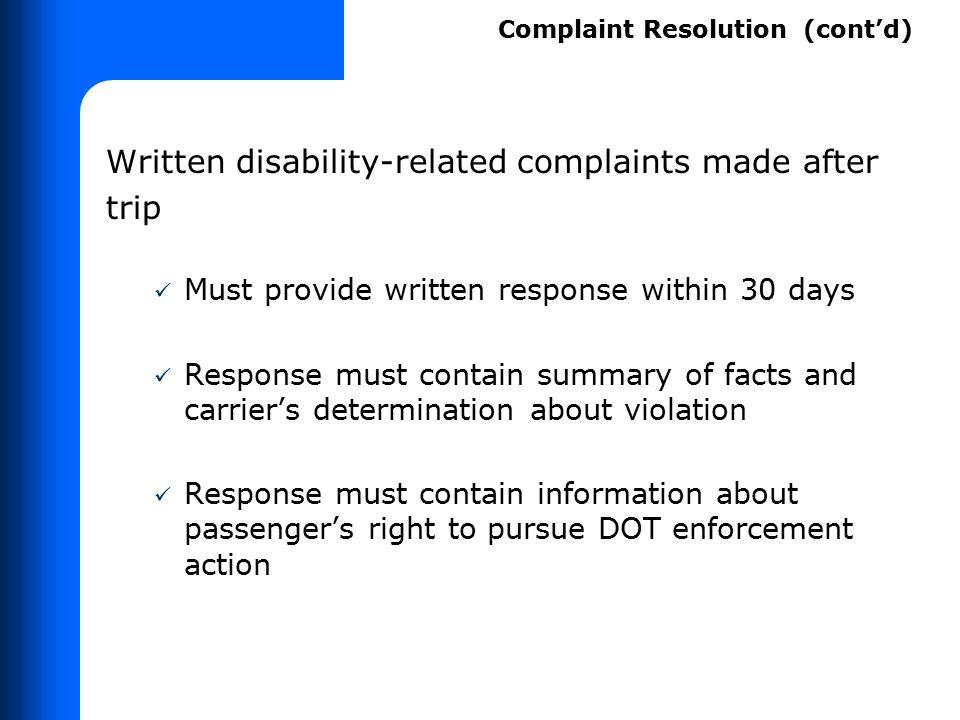 Exercise 3 (cont'd) Inform other carrier personnel Check PNR
