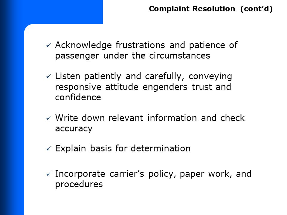 Disability-related complaints made to CRO during course of trip