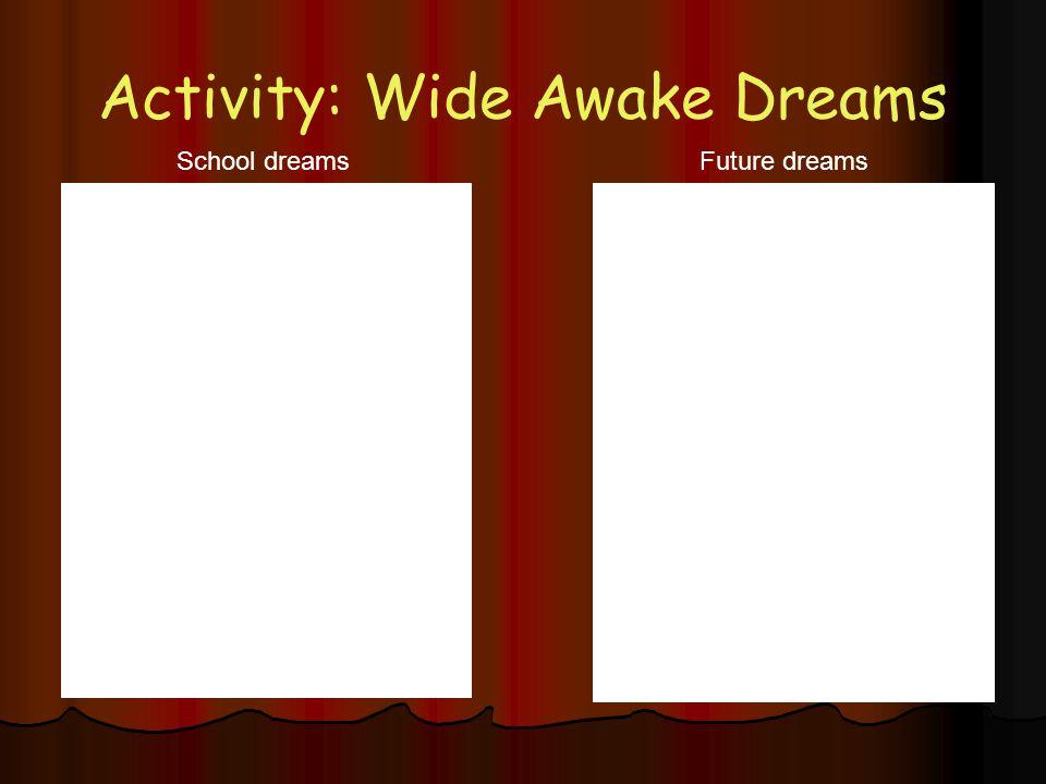 Activity: Wide Awake Dreams