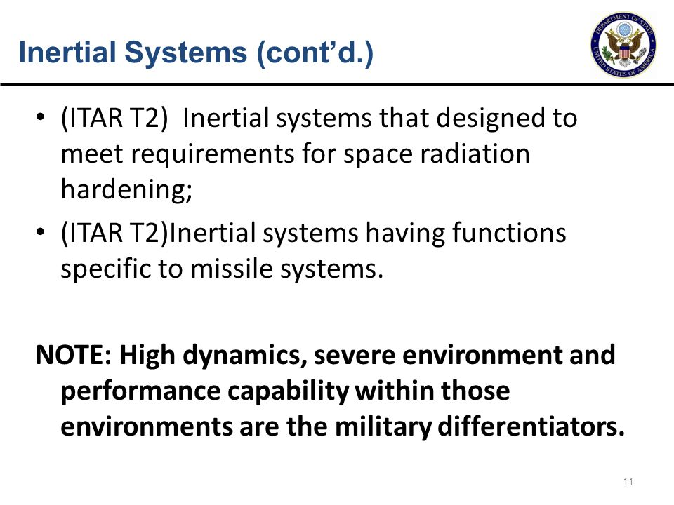 Inertial Systems (cont'd.)