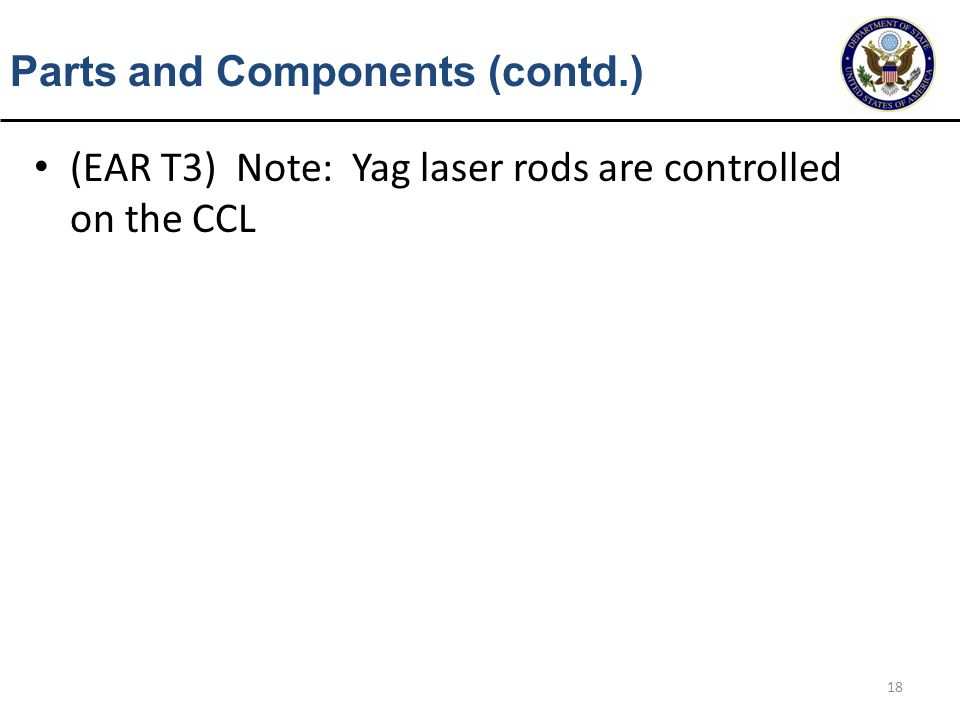 Parts and Components (contd.)
