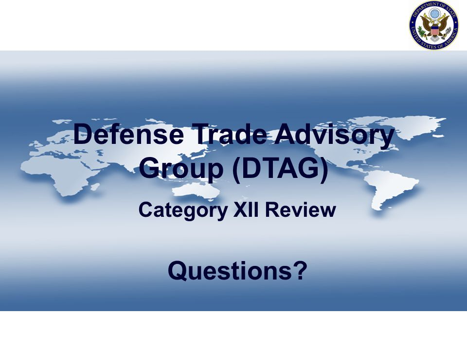 Defense Trade Advisory Group (DTAG)