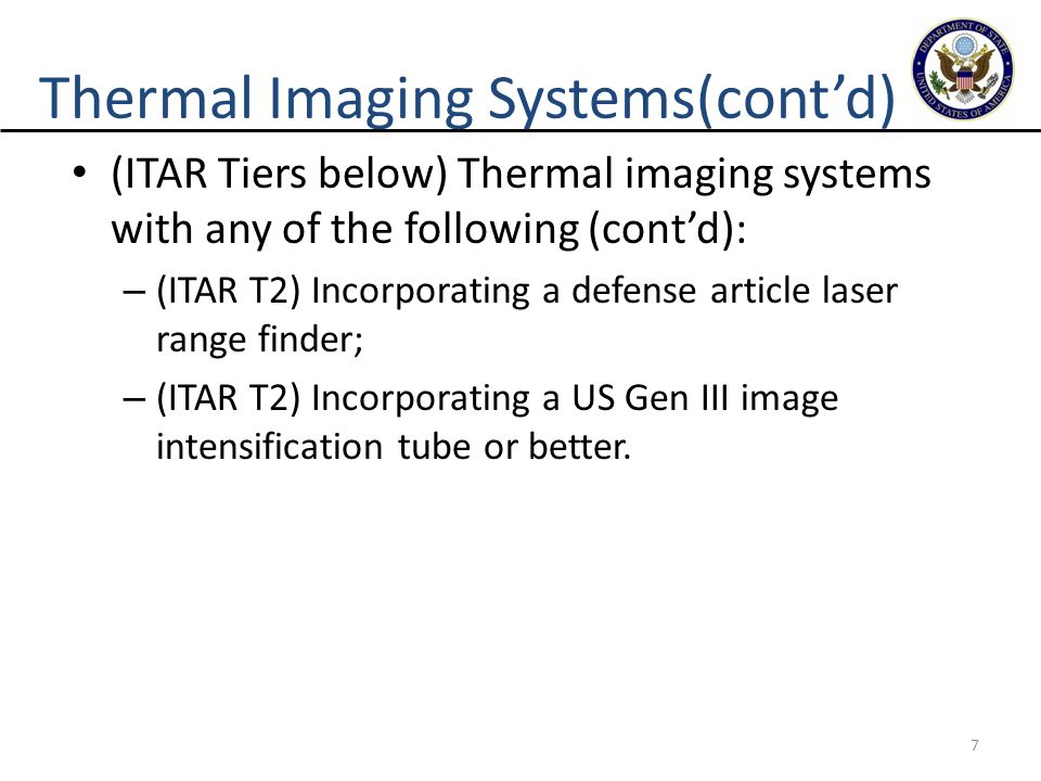 Thermal Imaging Systems(cont'd)