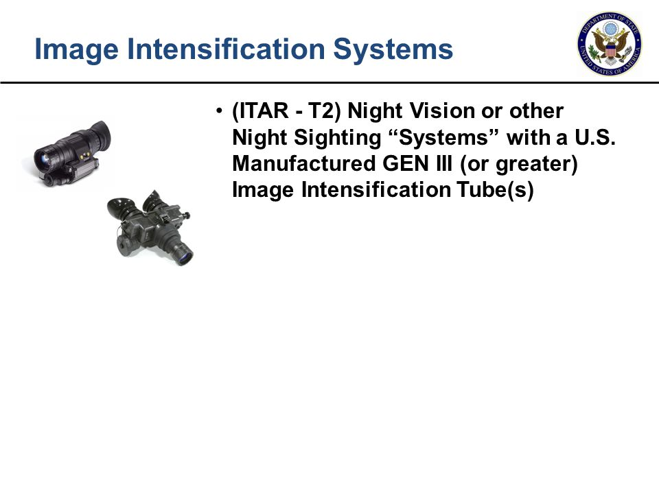 Image Intensification Systems