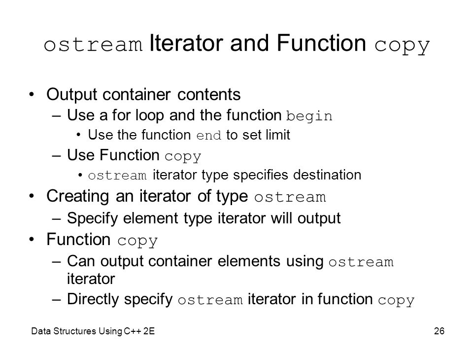 ostream Iterator and Function copy