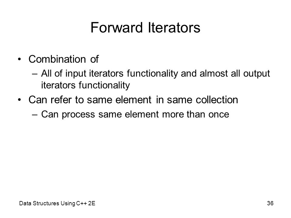 Forward Iterators Combination of