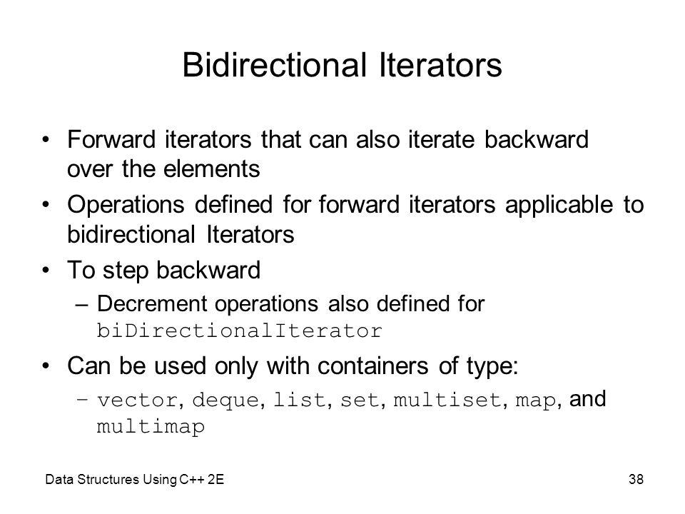 Bidirectional Iterators