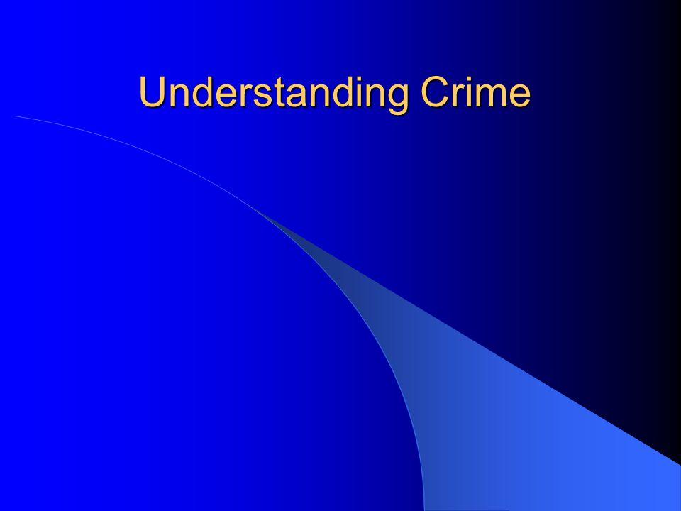 Understanding Crime