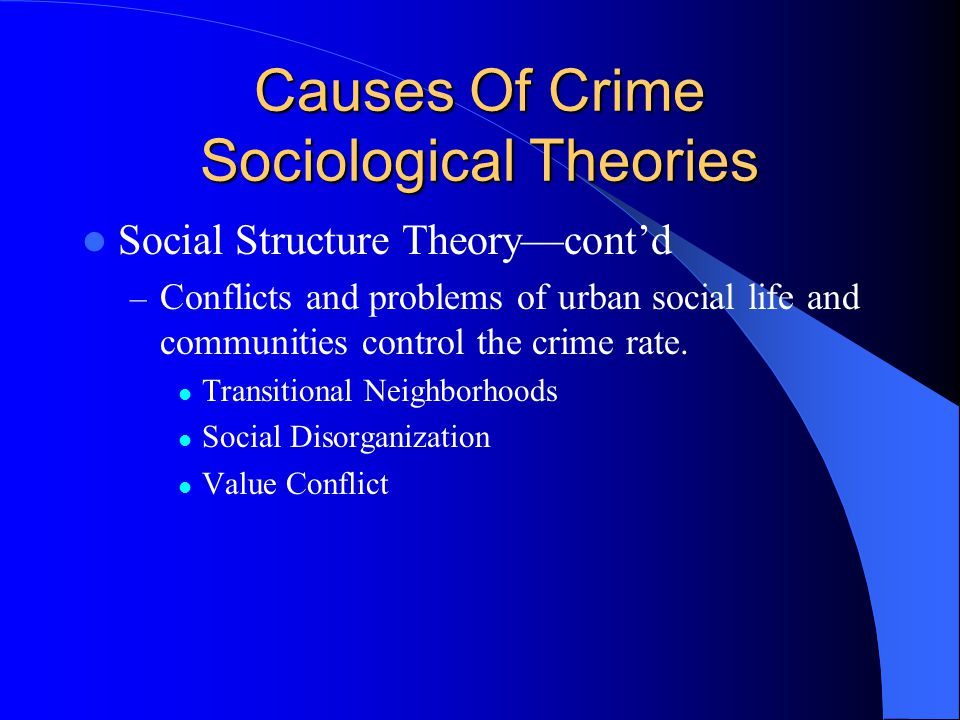 An analysis of sociological and structural explanations of criminality in society