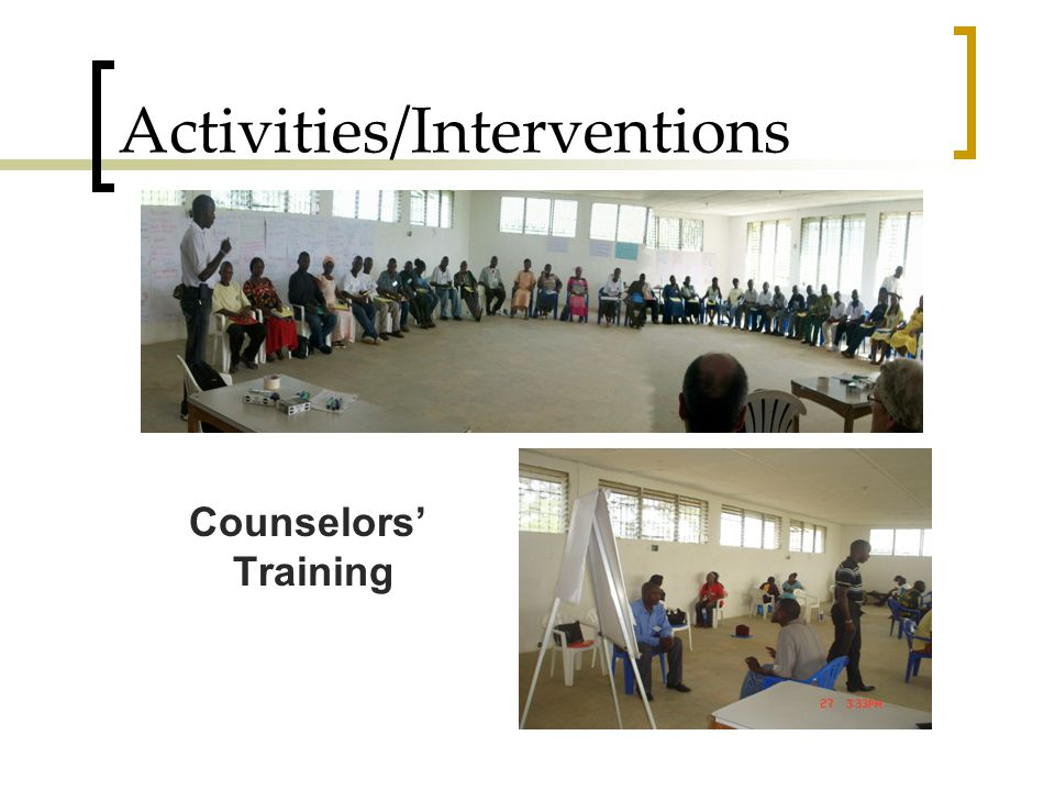 Activities/Interventions