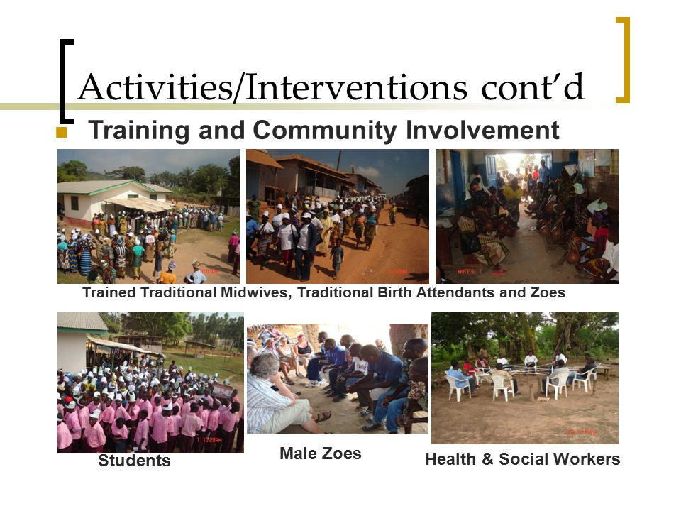 Activities/Interventions cont'd