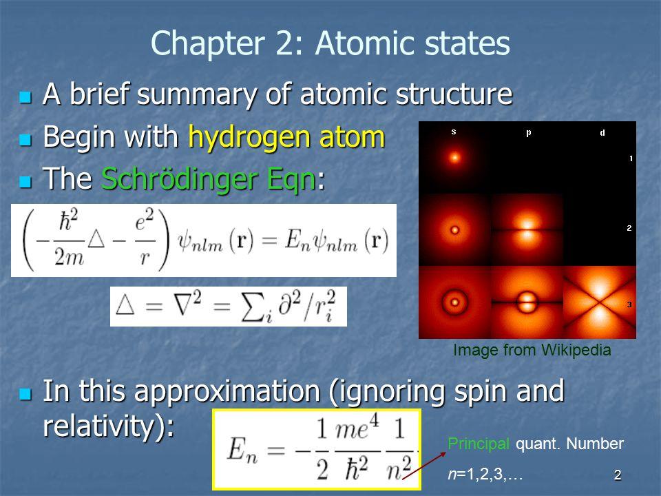 Chapter 2: Atomic states