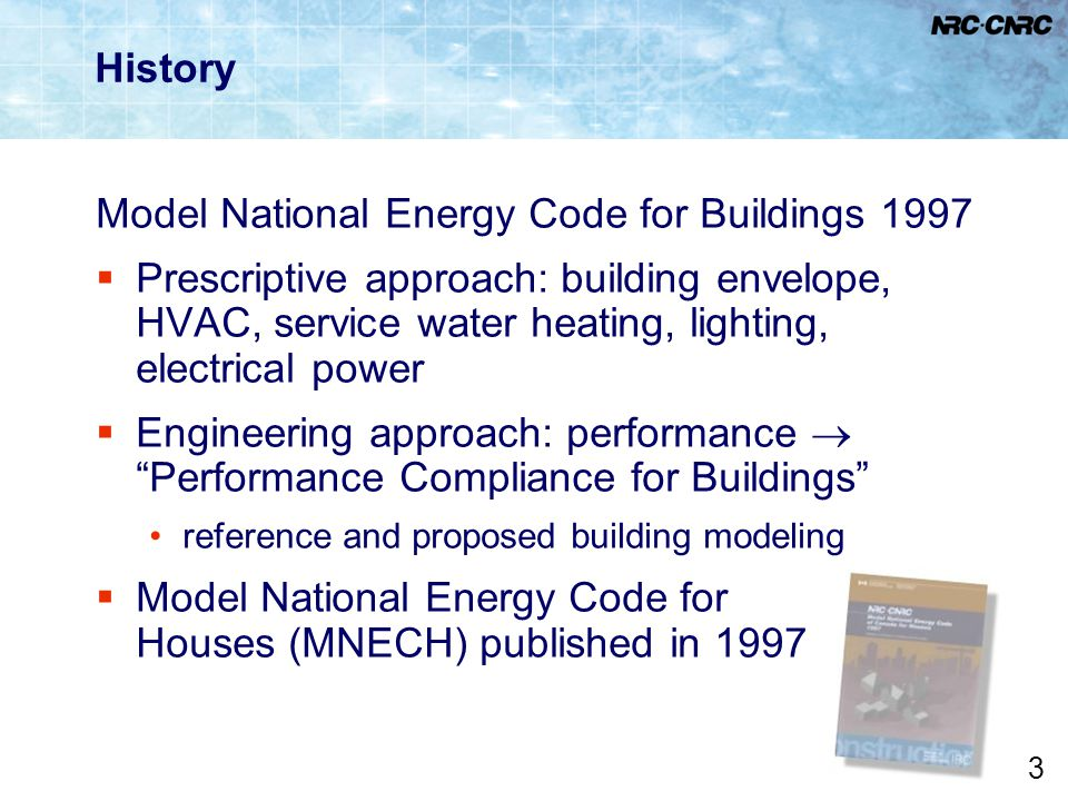 Model National Energy Code for Buildings 1997